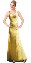 Buy Dramatic Wide Strapped Autumn Gown