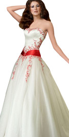 Strapless Sash Tie Up Ball Gown | Ball Dresses