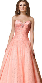 Sequined Sweetheart Neckline Gown | Ball Dresses