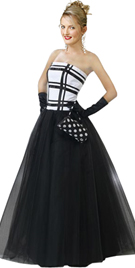 Striped Bodice Ball Gown