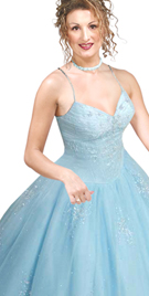 Sequined Sweet Heart Neck Ball Gown