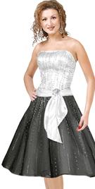 Beaded Strapless Short Formal Dress