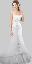 Tiered Hem Gorgeous Wedding Gown