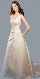 Feminine V Neckline Bridal Gown