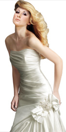 Gathered Strapless Gown | Wedding Dresses