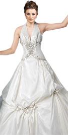 Sparkly Haute Halter Bridal Attire | Bridal Gowns