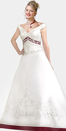 Off-The-Shoulder Satin Bridal Gown