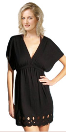 Luxurious Cut Trim Beach Dress