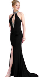 Wide Midriff Prom Gown