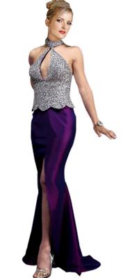 Phenomenal Queen Anne Neckline Gown