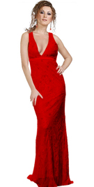Dramatic Halter Prom Gown