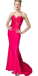 Sweetheart Neckline Evening Dress