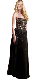 Glittering Strapless Valentines Day Gowns | Valentines Day Dress
