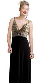 Deep Plunging Neckline Valentine Day Gown | Valentines Day Dress Shopping