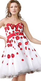 Strapless Valentines Day Dress | Valentines Day Gowns