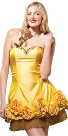Floral Hem Valentines Day Dress | valentines Day Gowns