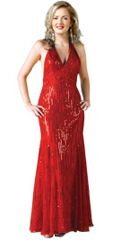 Halter Valentines Day Gown | Red Gowns