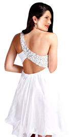 Beaded One Shoulder Valentine`s Day Dress | Online Valentine Day Dresses