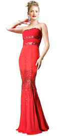 Strapless Fish Cut Valentine`s Day Gown | Buy Online Strapless Valentine`s Gowns