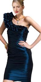 Stunning One Sided Ruffled Dress