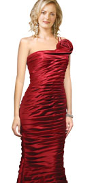 Body Hugging One-Sided Pleated valentines Dress