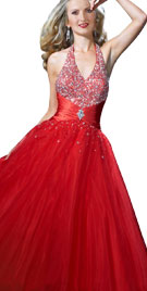 Halter Neck Princess Valentines Gown