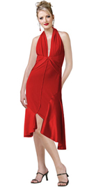 Sand Crepe And Satin Fashion Drape Designed Cocktail Dress