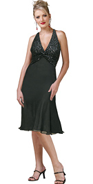 Twisted Bodice Evening Dress