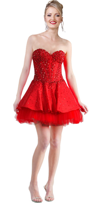 Demurely Designed Ball Gown
