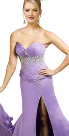 Fabulous Front Slit Christmas Gown | Christmas Gowns