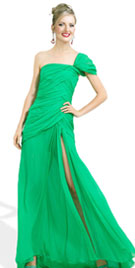Elegant One Shoulder Christmas Dress