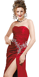 Beautiful Crimson Sizzling Party Dress