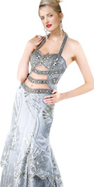 Beaded Halter Carnival Gown | Carnival Costumes