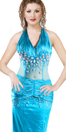 Halter Beaded Carnival Gown | Carnival Costumes & Dresses