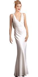 Jersey Crisscross Shoulder Detail Designer Gown