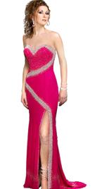Chiffon Sweet Heart Beaded Designer Gown