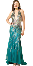 Buy Easter Party Dresses | Deep Plunging Neckline Easter Gown
