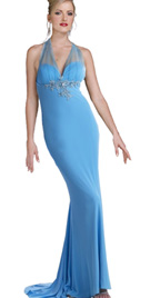 Net halter Evening dress