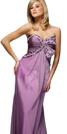 Strapless Beaded Evening Gown | Evening Dresses