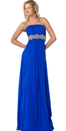 Strapless Evening Gown With Embellish Bust Line