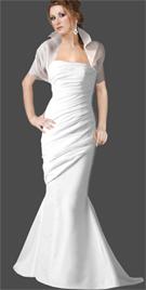 Confection of organza, silk satin and matte satin valentine prom dress