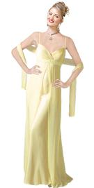 Silk Satin Crisscross Beaded evening Gown