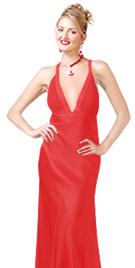 Hot satin Evening dress