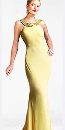 Satin Attire Beaded Evening Dress