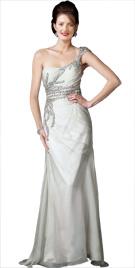Ornate Stone Studded One Shoulder Attire | Buy Fall Dresses