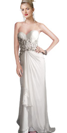 Sweetheart Neckline Fall Gown