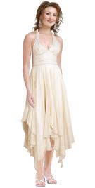 Ruffled Halter Beaded Dress