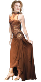 Necklace Beaded Silk Chiffon Evening Dress