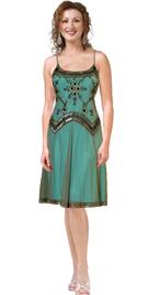 Satin Embroidered Net Formal Dress