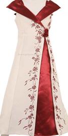 V-neckline Flower Girl Outfit